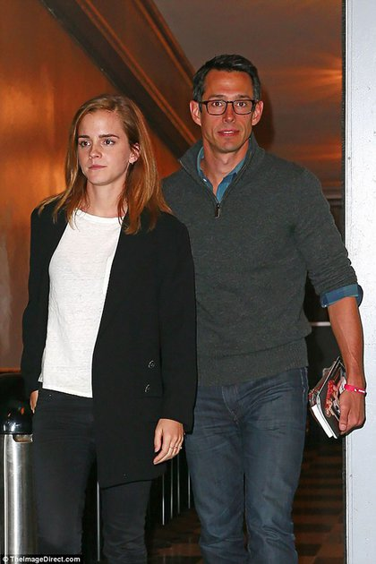 Emma Watson junto a William Knight