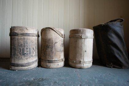 Sacos de Pólvora para las piezas de artillería emplazadas en la base Baterías