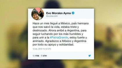 El exmandatario de Bolivia Evo Morales llegó el jueves a Buenos Aires en condición de asilado y recibirá el estatus de refugiado, dos días después de que el presidente Alberto Fernández asumiera el poder en Argentina.