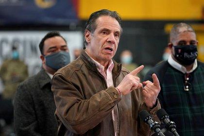 El gobernador de Nueva York durante una conferencia de prensa en .Brooklyn (Seth Wenig/Pool via REUTERS/archivo)