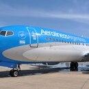 El flamante Boeing 737/800 de Aerolíneas.