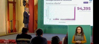 En 24 horas se aplicaron 94,395 vacunas contra COVID-19 en México (Foto: SSa)