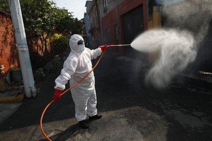 Las autoridades de salud recomendaron la reducción del uso de aromatizantes, aerosoles, pinturas, impermeabilizantes o productos que contengan solventes, (AP Photo/Rebecca Blackwell)