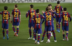 Con dos goles de Messi, Barcelona le gana al Getafe y presiona al Atlético de Madrid