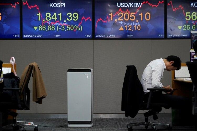 Un trader en la bolsa de Corea del Sur (REUTERS/Kim Hong-Ji)
