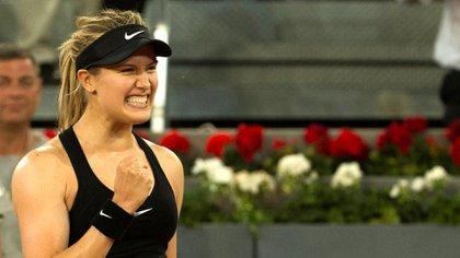 Eugenie Bouchard celebra su victoria (Reuters)