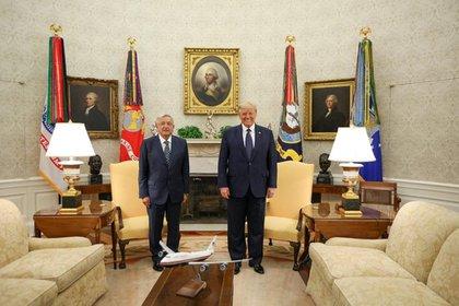 The convoy of President López Obrador stepped to 14:00 (time in Washington) to the White house