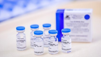 FILE PHOTO: Vials of the Sputnik V (Gam-COVID-Vac) vaccine are seen at the Del-Pest Central Hospital in Budapest, Hungary, February 12, 2021. Zoltan Balogh/MTI/MTVA/Pool via REUTERS/File Photo
