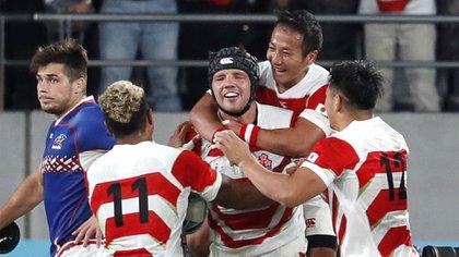 Japón se impuso por 30 a 10 ante Rusia en el marco de la primera fecha del Grupo A del Mundial de rugby (REUTERS/Issei Kato)