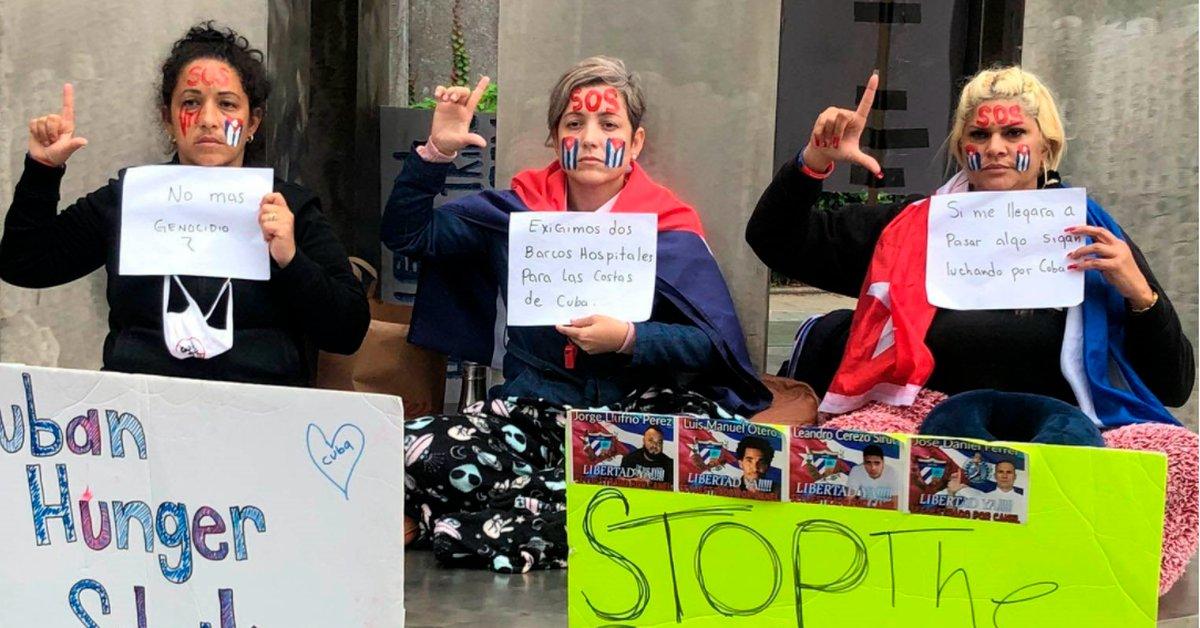 Mujeres cubanas se declararon en huelga de hambre ante la ONU para exigir  que se atienda la crisis que atraviesa la isla - Infobae