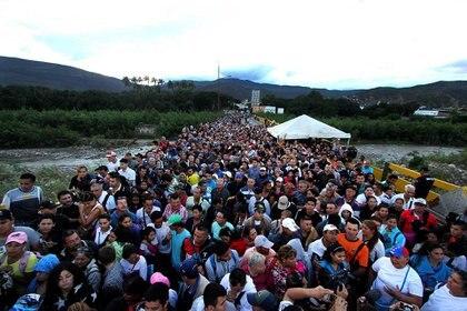 Más de cuatro millones de venezolanos se fueron de su país por la crisis (AFP)