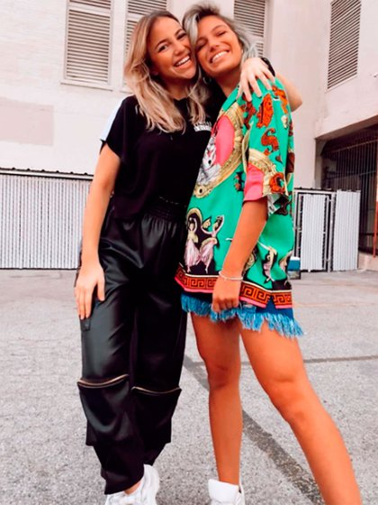 Stefi Roitman y su hermana Chantal (Instagram)
