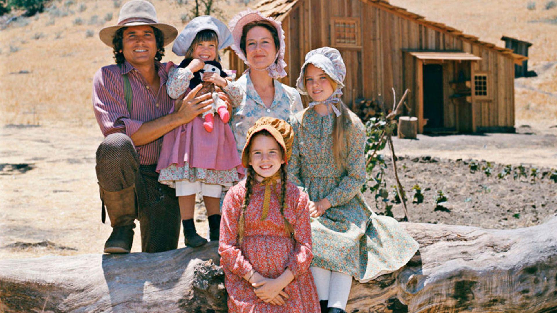 La familia Ingalls, en la locación en Simi Valley. La serie se rodó entre 1974 y 1983.