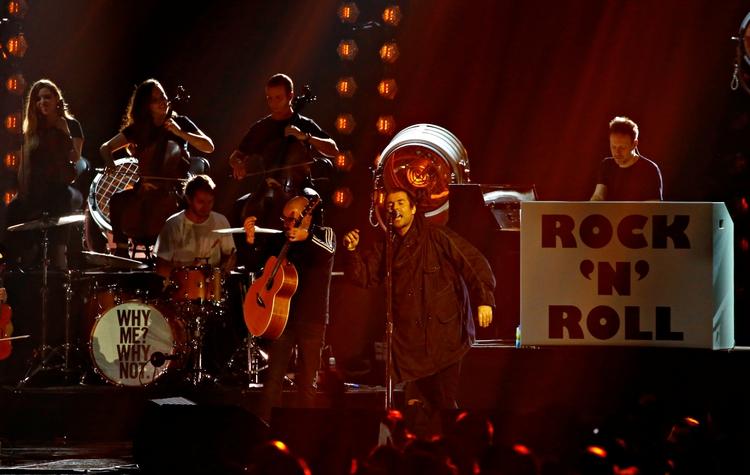 Liam Gallagher en el escenario de los EMAs 2019 en Sevilla