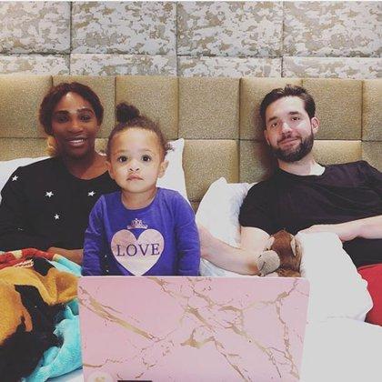 Serena Williams, Alexis Ohanian y su pequeña hija Olympia son fundadores de Angel City