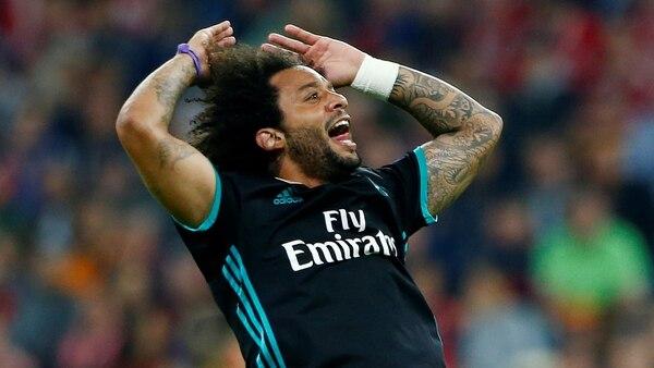 Marcelo grita su gol de cara a la afición madridista (Reuters)