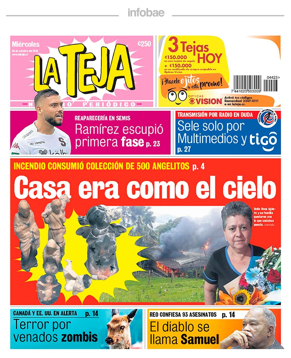 La teja – Costa Rica – 9 de Octubre de 2019