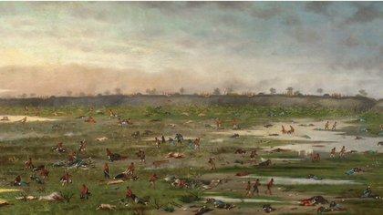 """""""Después de la batalla de Curupaytí"""", de Cándido López (Museo Nacional de Bellas Artes)"""