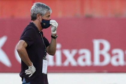 Sino gana la Champions League, Quique Setién podría dejar de ser el técnico del Barcelona (Reuters)