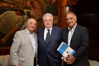 Armando Cavalieri, Ginés González García y Carlos Pérez