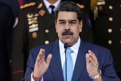 FOTO DE ARCHIVO- El presidente de Venezuela, Nicolás Maduro, habla durante una conferencia de prensa en el Palacio de Miraflores en Caracas, Venezuela, Marzo 12, 2020. REUTERS/Manaure Quintero