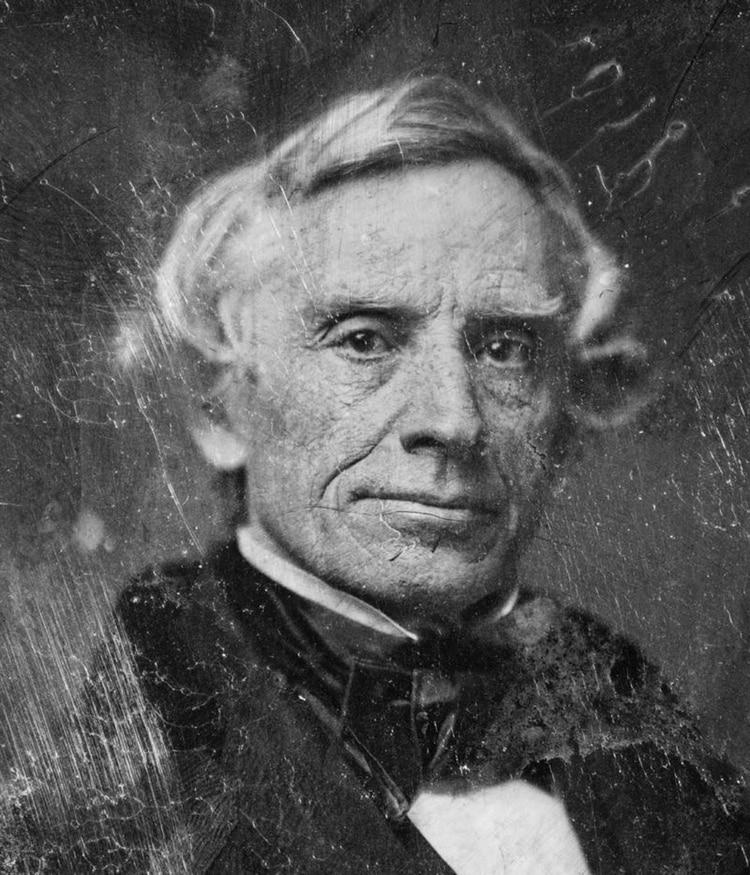 Retrato de Samuel F. B. Morse, inventor del código Morse