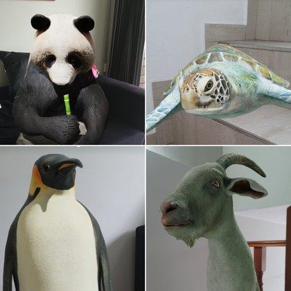 Algunos de los tantos animales en realidad aumentada que se encuentran en el buscador de Google.
