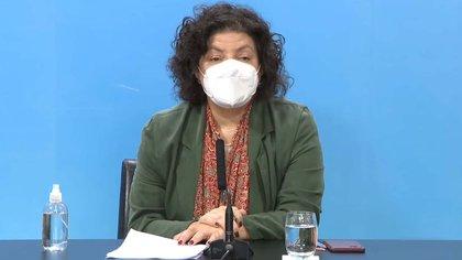 Reporte diario de Carla Vizzotti desde el Ministerio de Salud