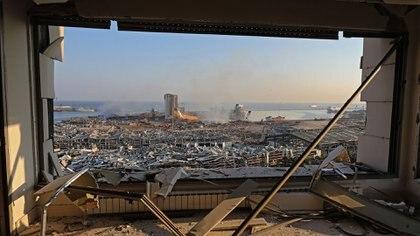 Vista de la devastación desde un edificio alcanzado por la explosión (AMRO / AFP)