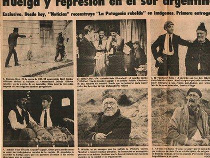 """La llamada """"Patagonia Rebelde"""" en diarios de la época"""