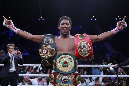 Anthony Joshua comentó que le gustaría unificar los títulos con Deontay Wilde (Foto:Reuters)