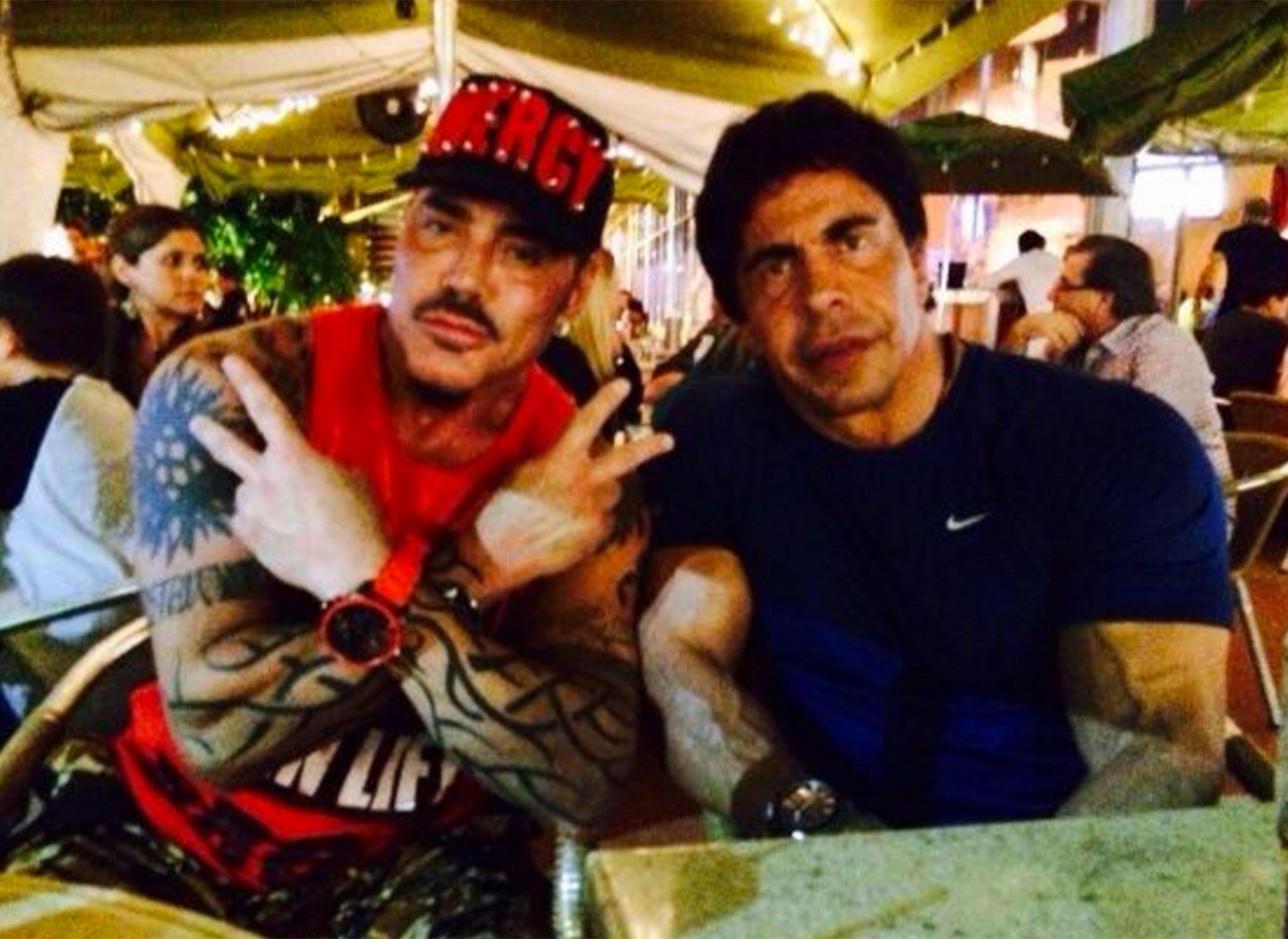 RIcardo Fort y Gustavo Martínez, en una de las últimas cenas que compartieron