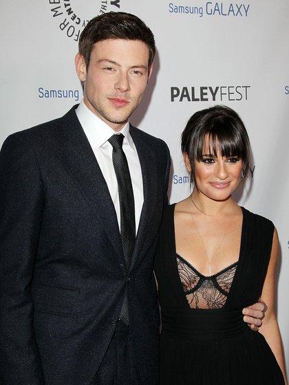 Lea Michele y Cory Monteith (Shutterstock)