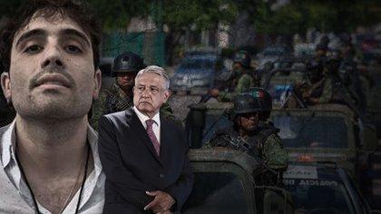 El presidente López Obrador recibió una lluvia de críticas por la liberación de Ovidio Guzmán (Fotoarte: Infobae)