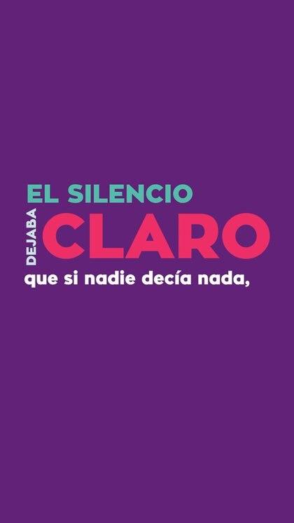 El silencio no es salud, sino complice de la violencia de género.