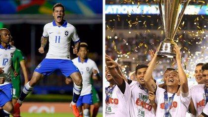 Brasileños y mexicanos parten como favoritos en las respectivas Copas que se disputan en Concacaf y en Conmebol (Foto: Especial)