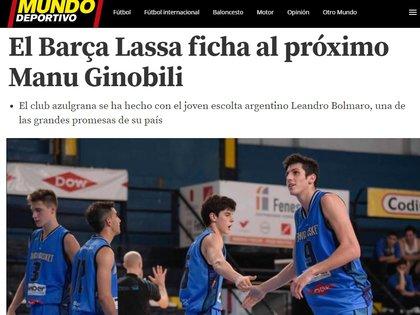 La prensa española cataloga a Leandro Bolmaro como el futuro Manu Ginóbili