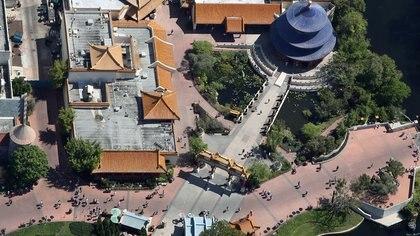 Una vista aérea de la zona de China en el parque de Disney de Epcot (REUTERS/Gregg Newton)