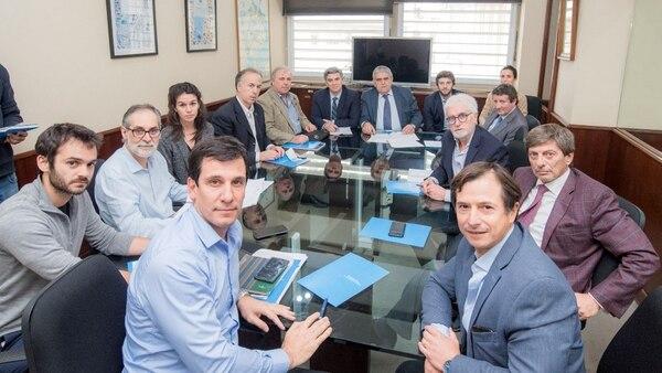 Ivan Kerr, Daniel Lipovetzky y dirigentes del mercado inmobiliario