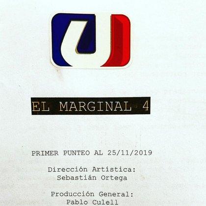 La foto que publicó Sebastián Ortega en su cuenta de Instagram adelantando que ya está trabajando en El Marginal 4