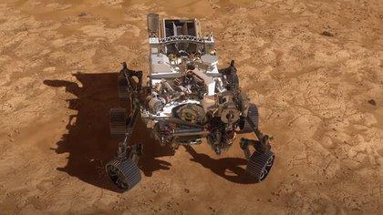 18/02/2021 El rover Perseverance de la NASA aterriza en el cráter Jezero de Marte.  El rover Perseverance llegó al cráter Jezero de Marte este 18 de febrero a las 20.55 UTC según lo previsto, informó la NASA, convirtiéndose en el quinto vehículo de exploración que la agencia espacial estadounidense coloca en la superficie del Planeta Rojo.  POLITICA EUROPA ESPAÑA INVESTIGACIÓN Y TECNOLOGÍA NASA