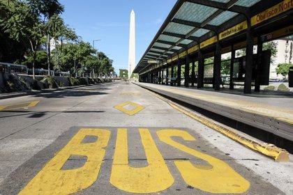 El Metrobus de la 9 de Julio estará interrumpido desde las 6:00 y hasta las 22:00 de este martes. (NA/Pablo Lasansky)