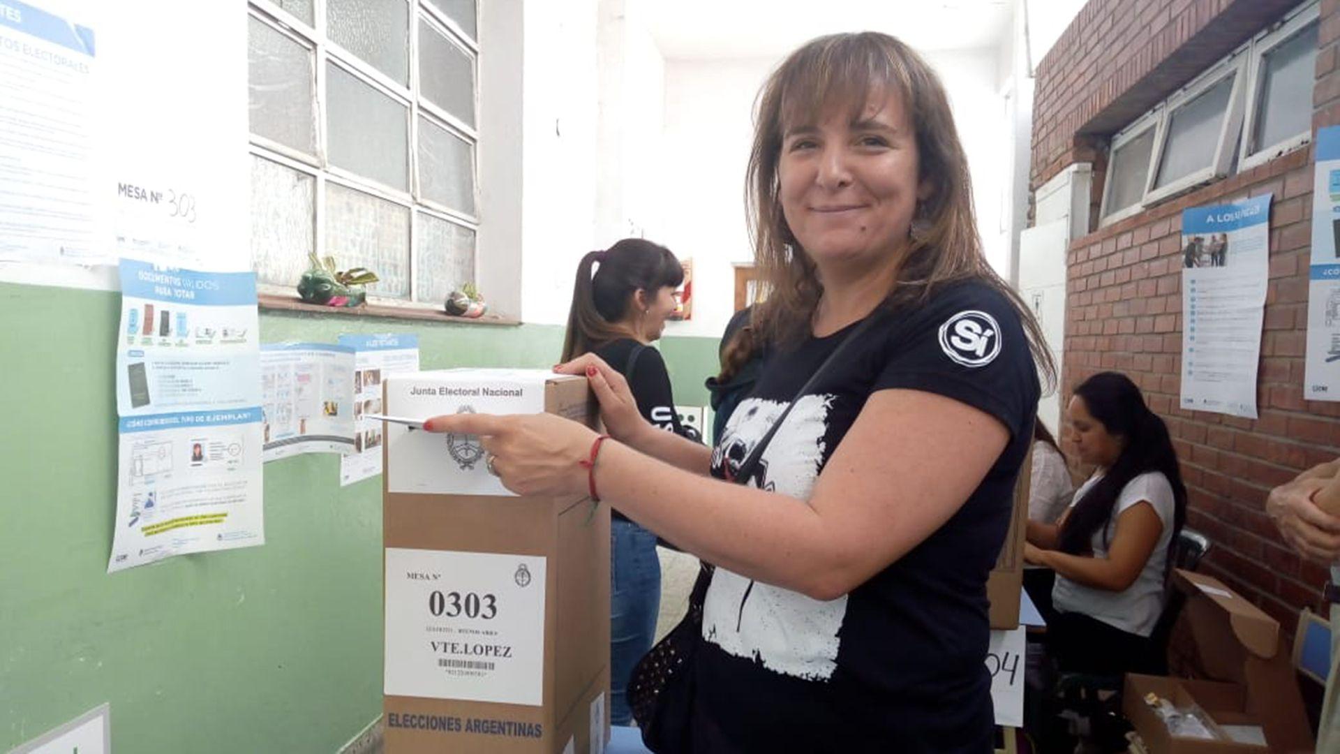 Natalia Souto es dirigente de Somos-Barrios de Pie (@SoutoNat)