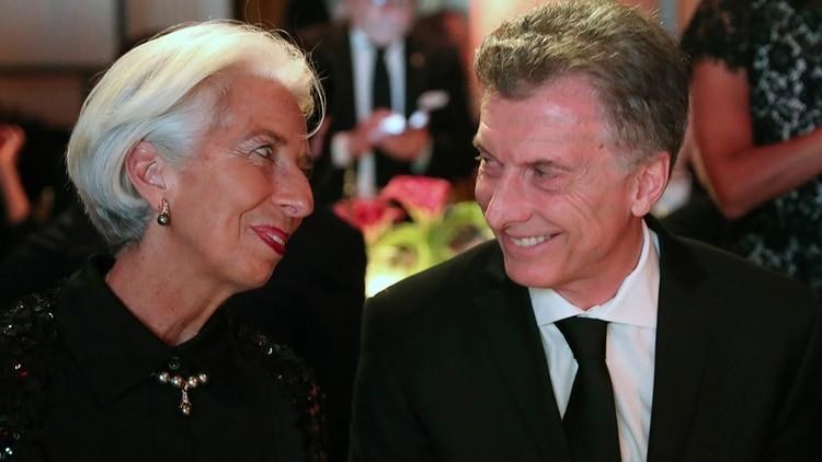 Lagarde y Macri, en septiembre pasado, en Nueva York