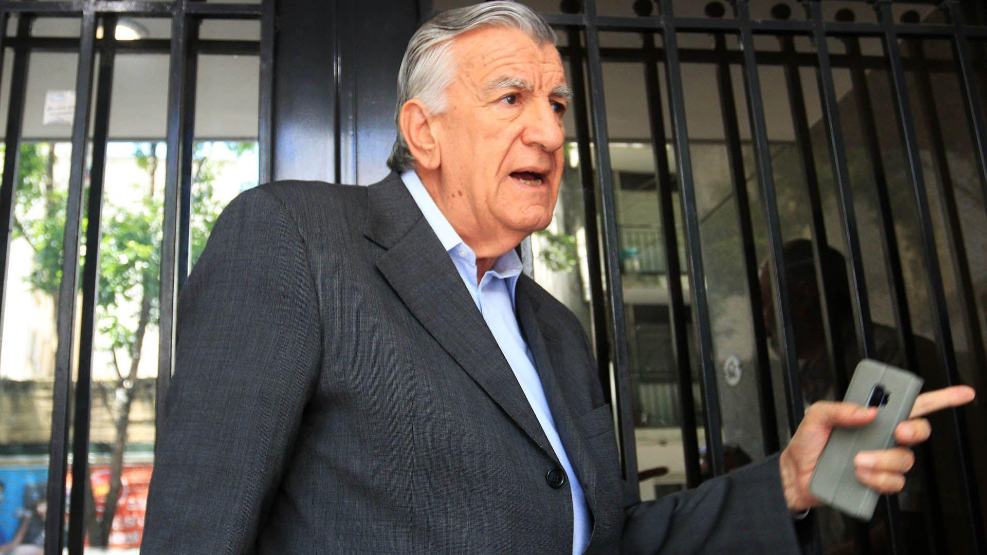 """""""Va a estar todo el peronismo"""", destacó José Luis Gioja, presidente del Partido Justicialista nacional (NA: JUAN VARGAS)."""