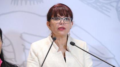 La diputada federal Claudia Yáñez renunció a su militancia morenista este martes, citando un sucio proceso interno para elección de candidaturas (Foto: Cortesía Cámara de Diputados)