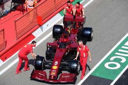 El vehículo con el que Ferrari correrá este domingo (Foto: Reuters)