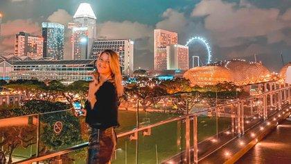 Ani Di Stéfano y una de las vistas más maravillosas de Singapur