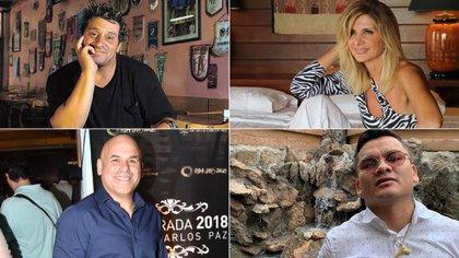 El Turco García, Débora Plager, el Bicho Gómez y el Chino Maidana