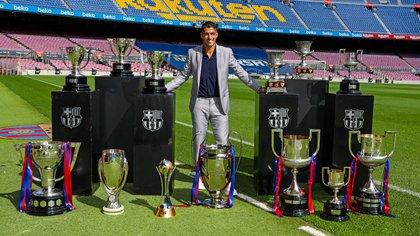 La despedida de Suárez en el Barcelona con todos los títulos que ganó en el club (FC Barcelona)